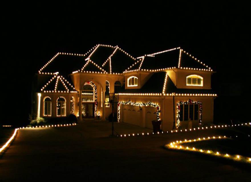 holiday lights professional christmas light installation - Christmas Lighting Installation